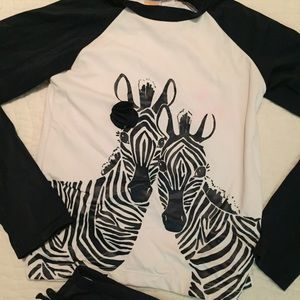 Gymboree Swim - Gymboree Size 8 Zebra Rash Guard Swim Suit bathing